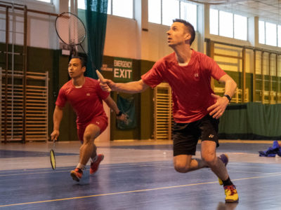 Inter-Services Badminton Tournament at the Prince William of Gloucester Barracks, Nr Grantham.